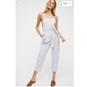 Free People Pegged One Piece Jumpsuit Overalls